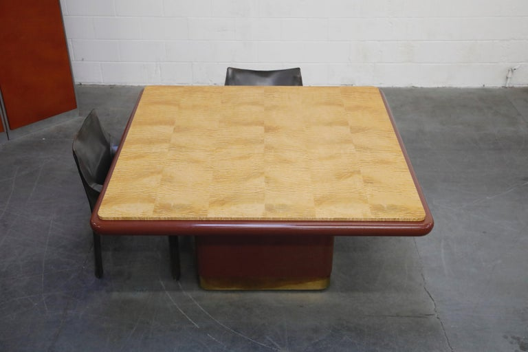 Vladimir Kagan Quilted Maple Large Dining or Conference Room Table, Signed For Sale 1