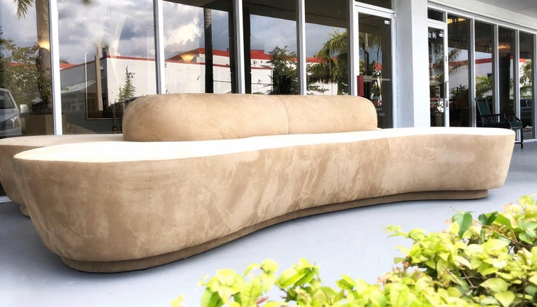 Vladimir Kagan Rare Double L Facing Sofa by Directional For Sale 6