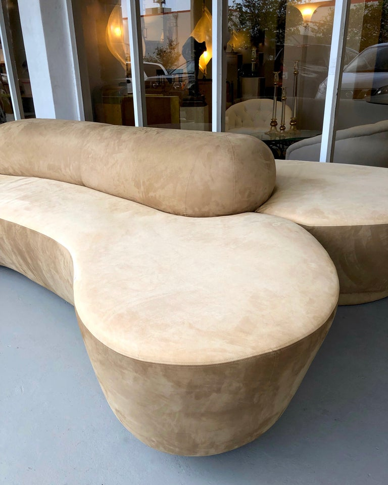 Vladimir Kagan Rare Double L Facing Sofa by Directional For Sale 7