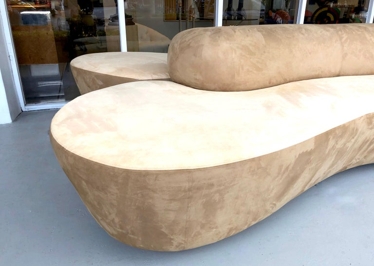 Vladimir Kagan Rare Double L Facing Sofa by Directional For Sale 8