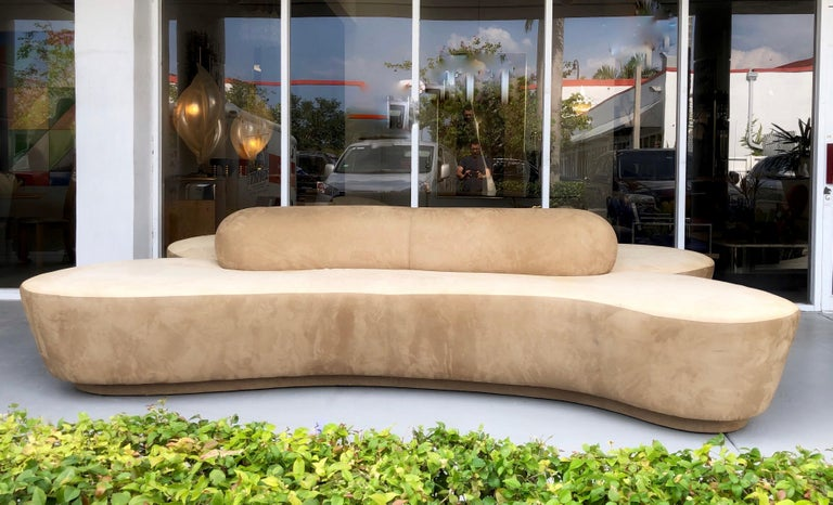 Late 20th Century Vladimir Kagan Rare Double L Facing Sofa by Directional For Sale