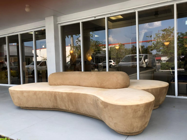 Vladimir Kagan Rare Double L Facing Sofa by Directional For Sale 3