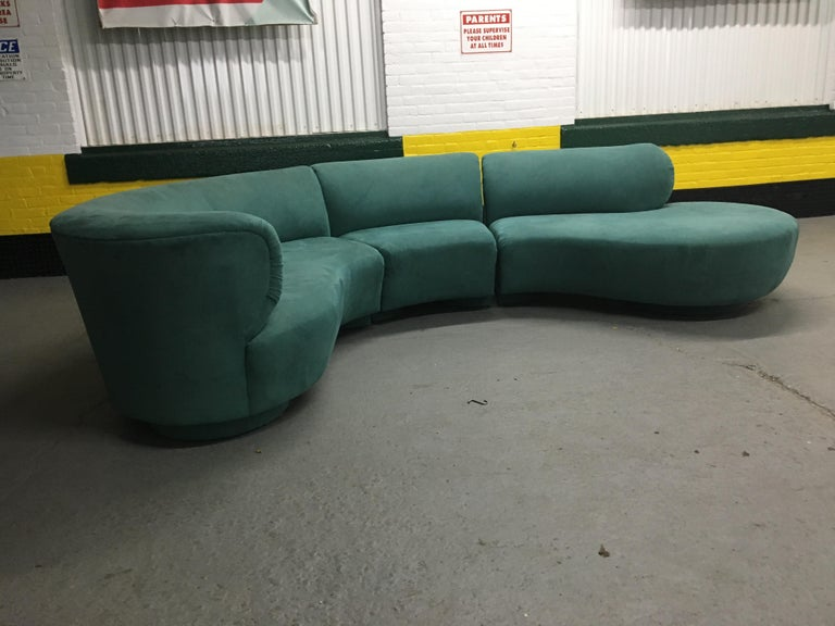 Vladimir Kagan Sectional 'Cloud' Sofa for Weiman In Good Condition For Sale In St.Petersburg, FL