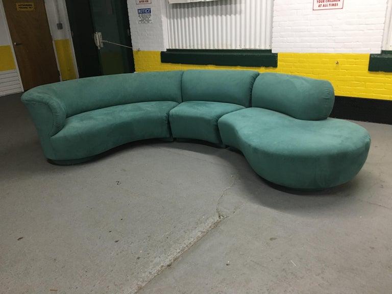 Fabric Vladimir Kagan Sectional 'Cloud' Sofa for Weiman For Sale