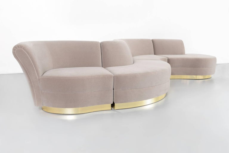 Marvelous Vladimir Kagan Sectional Sofa Freshly Reupholstered In Ibusinesslaw Wood Chair Design Ideas Ibusinesslaworg