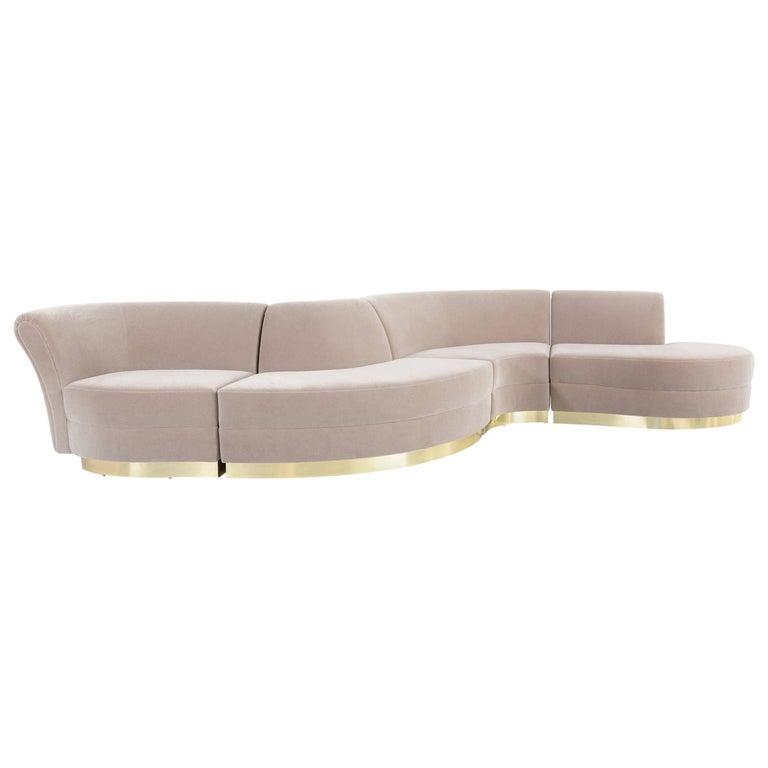 Pleasant Vladimir Kagan Sectional Sofa Freshly Reupholstered In Ibusinesslaw Wood Chair Design Ideas Ibusinesslaworg