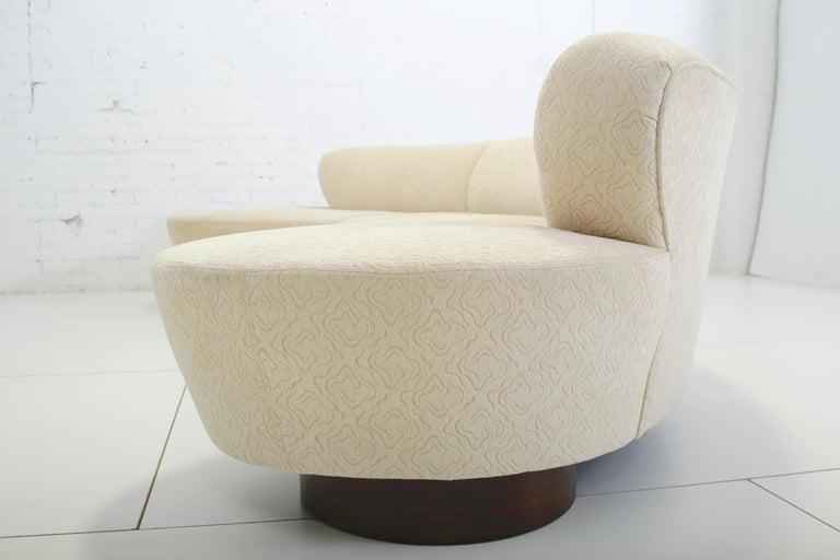Mid-Century Modern Vladimir Kagan Serpentine Sectional Sofa For Sale