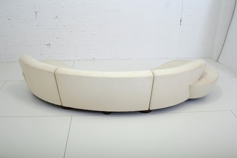 American Vladimir Kagan Serpentine Sectional Sofa For Sale