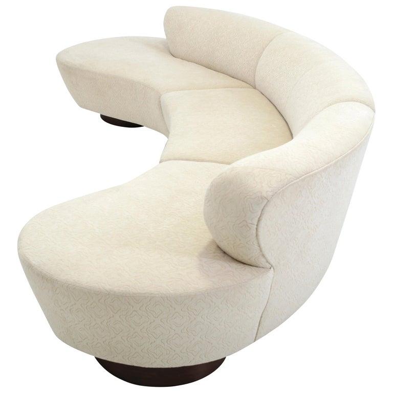 Vladimir Kagan Serpentine Sectional Sofa For Sale