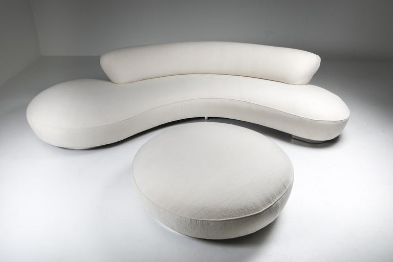 Vladimir Kagan for Directional, USA, 1956.   This sofa was designed by Kagan for Directional One of the most iconic designs by Kagan emphasizing the both sculptural organic form and user's comfort combined into 1 element. The sofa has been