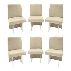 "Vladimir Kagan Set of 6 ""CLOS"" Dining Chairs, 1975 'Signed'"