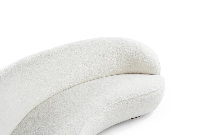 Bouclé Vladimir Kagan 'Sloane' Sofa, Model 7550 For Sale