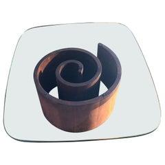Vladimir Kagan Snail Coffee Table Designed by Vladimir Kagan