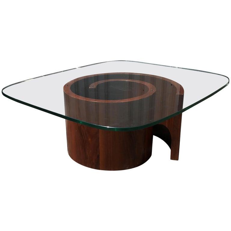Kagan Coffee Table.Vladimir Kagan Snail Coffee Table Restored