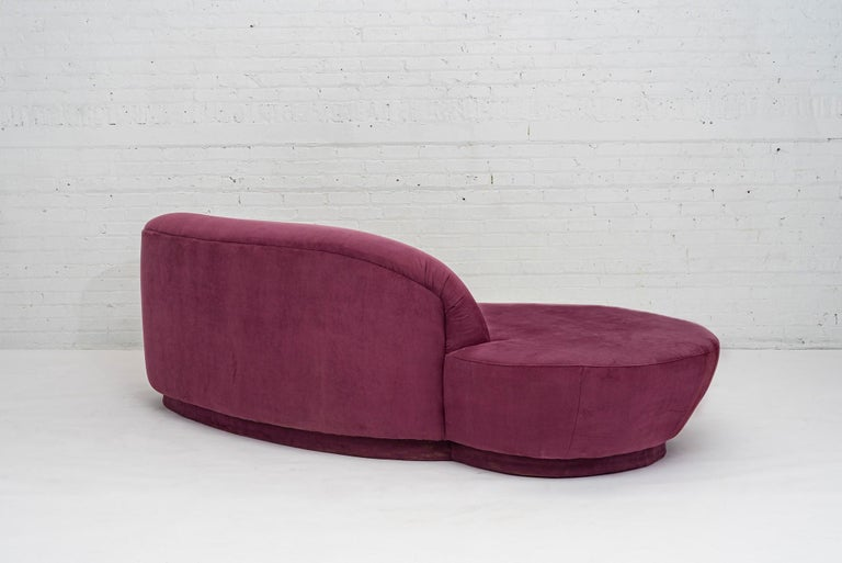 Suede Vladimir Kagan Sofa for Directional, 1990 For Sale