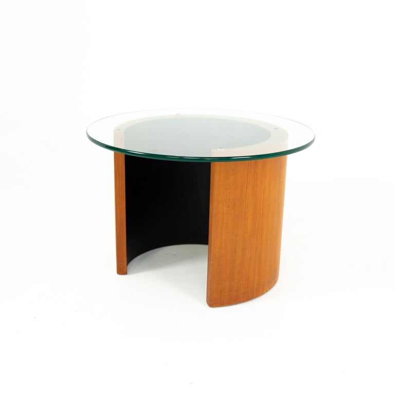Midcentury walnut side end table Side table measures: 24 wide x 24 deep x 16.5 high  All pieces of furniture can be had in what we call restored vintage condition. That means the piece is restored upon purchase so it's free of watermarks, chips or