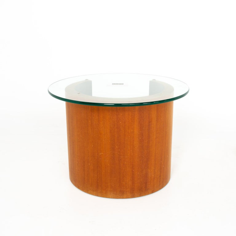 Late 20th Century Midcentury Walnut Side End Table For Sale