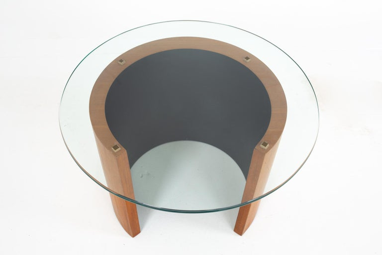 Midcentury Walnut Side End Table For Sale 2