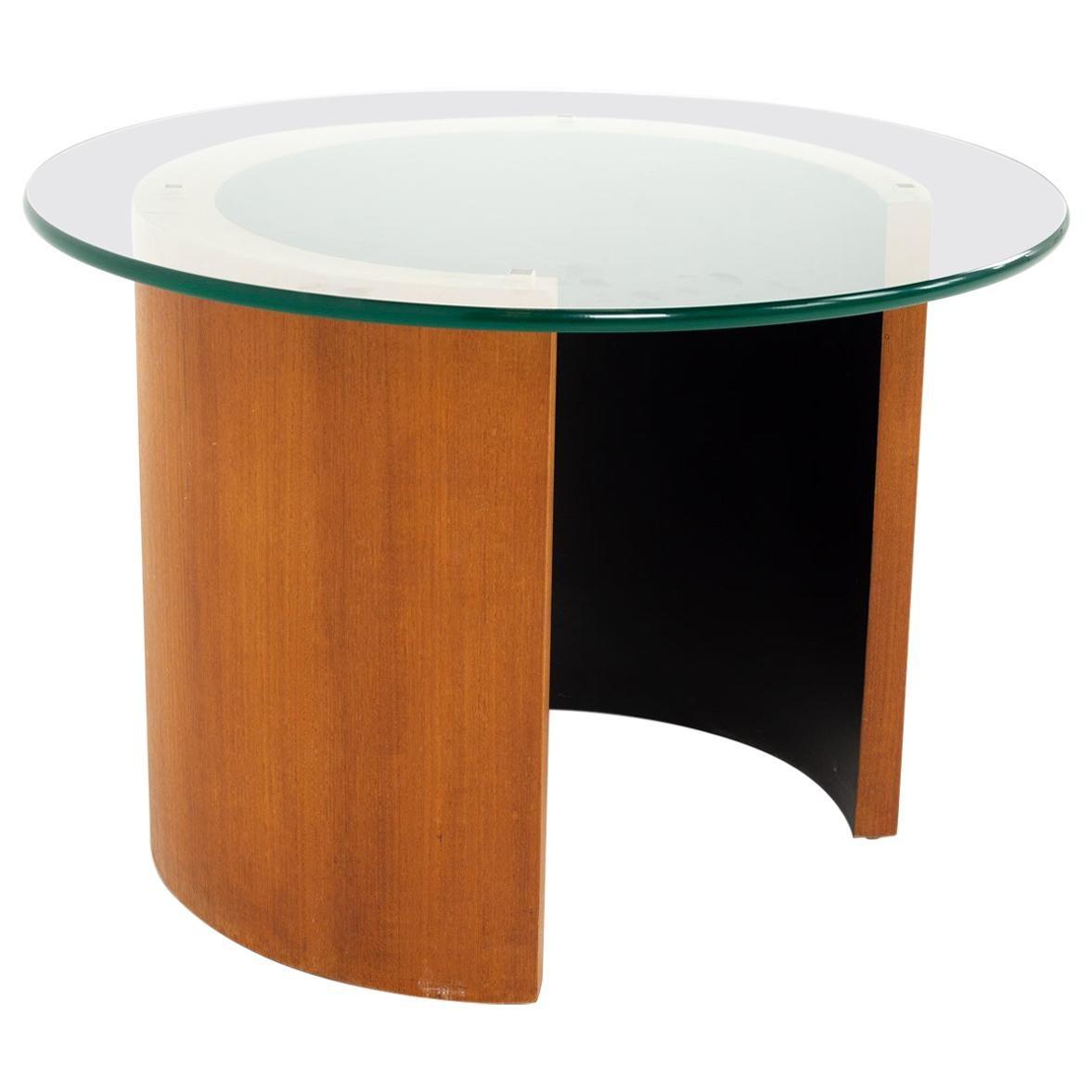 Midcentury Walnut Side End Table
