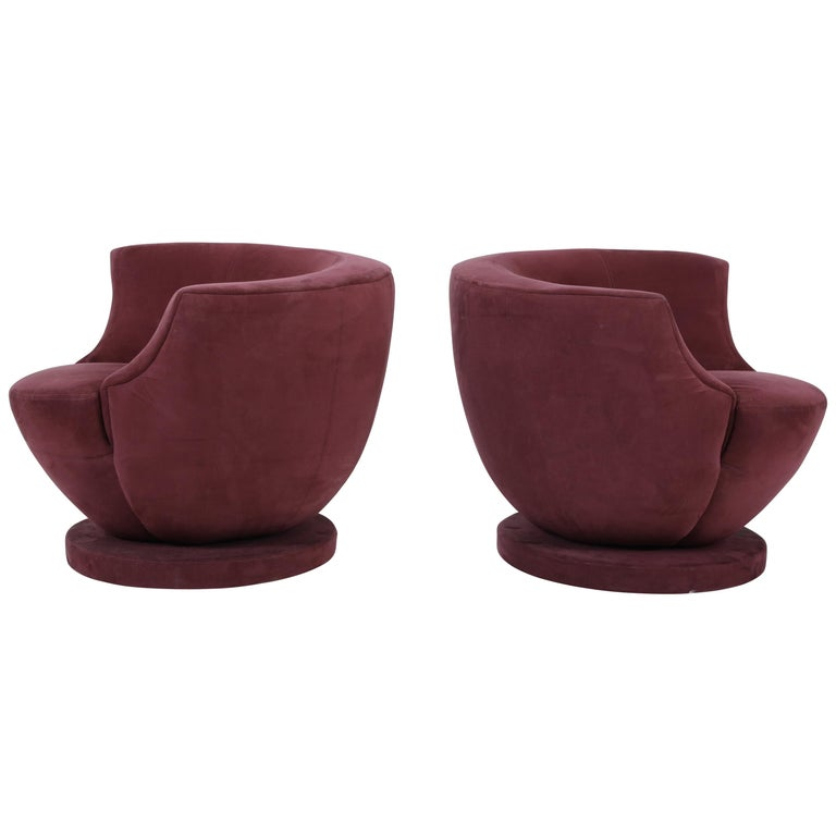 Vladimir Kagan Swivel Chairs for Directional For Sale