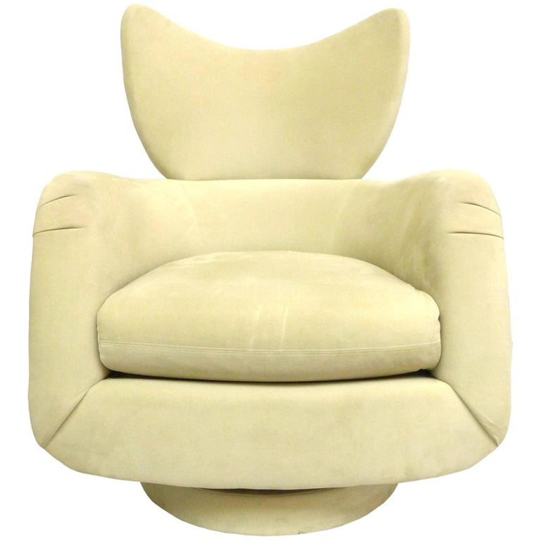 Vladimir Kagan Swivel Lounge Chair for Directional For Sale