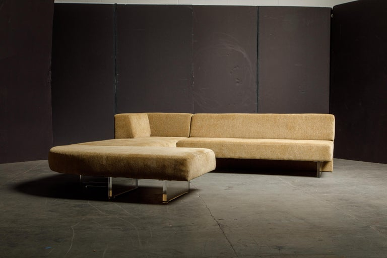 This incredible sectional sofa is by Vladimir Kagan, called the 'Omnibus' seating system. Designed in the 1960s, the Omnibus has remained as one of the most prolific and unique sectional sofa designs spanning all decades since, celebrated by modern