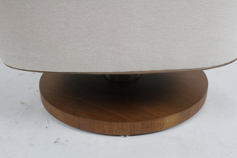 Vladimir Kagan Tilt-Swivel Barrel Lounge Chair Model 100-S w/ Holly Hunt Velvet For Sale 10
