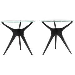 Vladimir Kagan Trisymmetric End Tables, 1950s