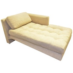 Vladimir Kagan Upholstered with Lit Lucite Base Omnibus Chaise Lounge and Pillow