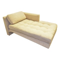 Vladimir Kagan Upholstered with Lit Lucite Base Omnibus Chaise Lounge & Pillow