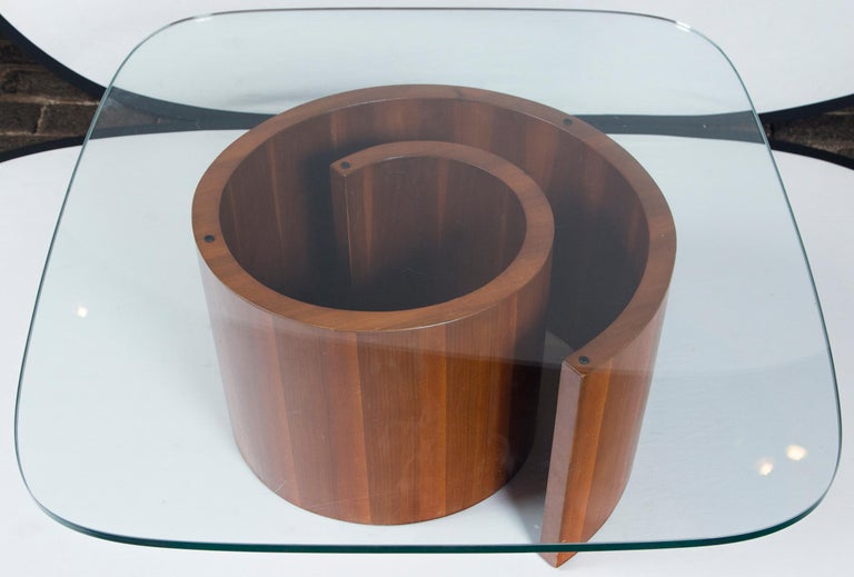 Mid-Century Modern Vladimir Kagan Wood Snail Table