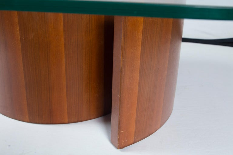 Mid-20th Century Vladimir Kagan Wood Snail Table