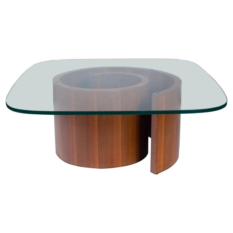 Vladimir Kagan Wood Snail Table