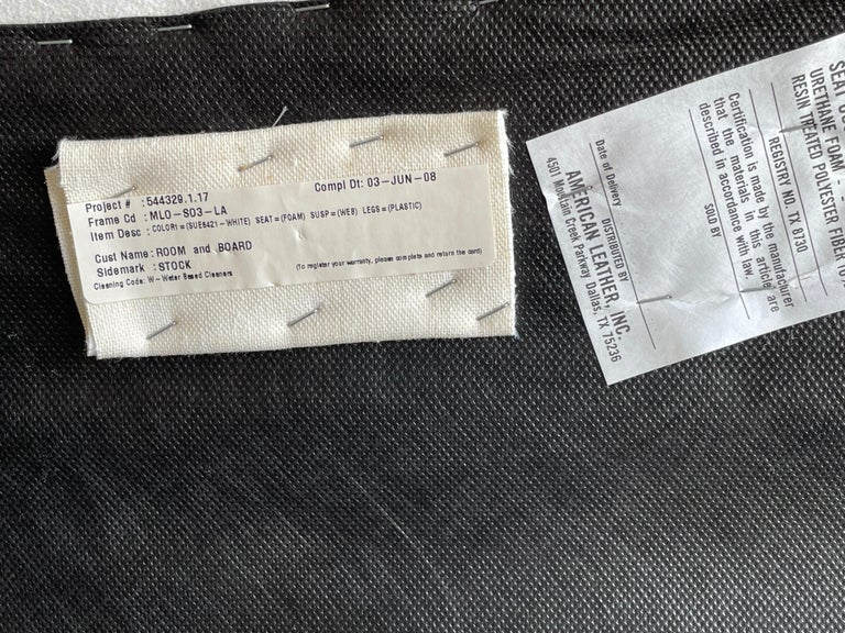 "Vladimir Kagan ""Zoe"" Cloud Sofa, American Leather, Organic Modern For Sale 5"