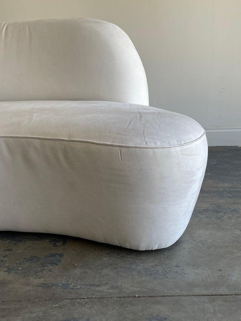 "Ultrasuede Vladimir Kagan ""Zoe"" Cloud Sofa, American Leather, Organic Modern For Sale"