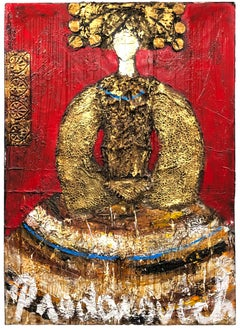 Gold Queen, Mixed Media Painting on Canvas