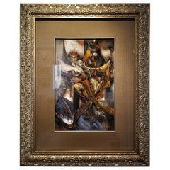 Vladimir Ryklin Oil on Canvas Cirque De Soleil 1