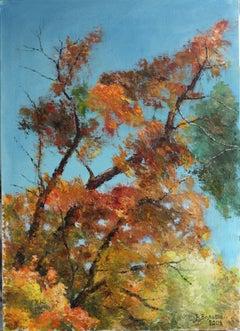 Autumn Extravaganza, Painting, Oil on Canvas