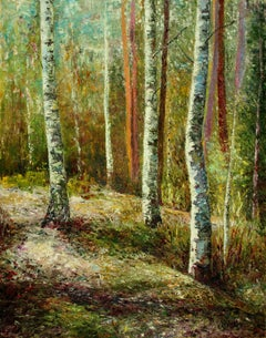 Birches....birches, Painting, Oil on Canvas