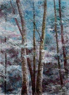 Blue Forest, Painting, Oil on Canvas