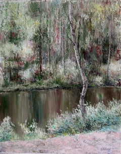Forest Lake, Painting, Oil on Canvas