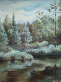 Forest Landscape, Painting, Oil on Canvas