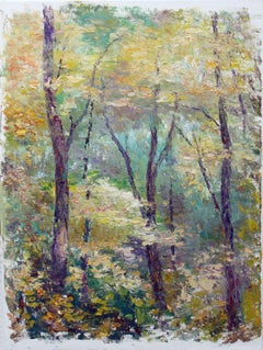 In Dense Forest, Painting, Oil on Canvas