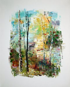 In summer Forest, Painting, Oil on Canvas