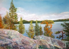 Landscape in Karelian Mountains, Painting, Oil on Canvas