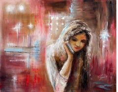 Loneliness in the big city, Painting, Oil on Canvas
