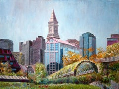 Majestic Beautiful Boston, Painting, Oil on Canvas