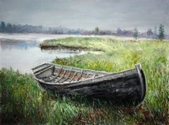 Old Boat, Painting, Oil on Canvas