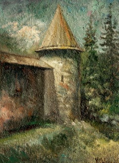 Old Monastery, Painting, Oil on Canvas