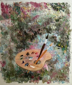 Palette, Painting, Oil on Canvas